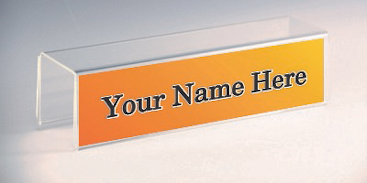 Sign Holders - Name Plate Holders | Counter, Wall, Cubicle ...